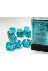 Chessex D6 Dice: 16mm Translucent Teal (12)