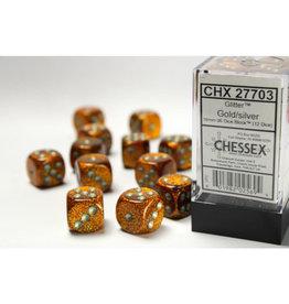 Chessex DICE D6 16MM CHX27703 GLITTER GOLD