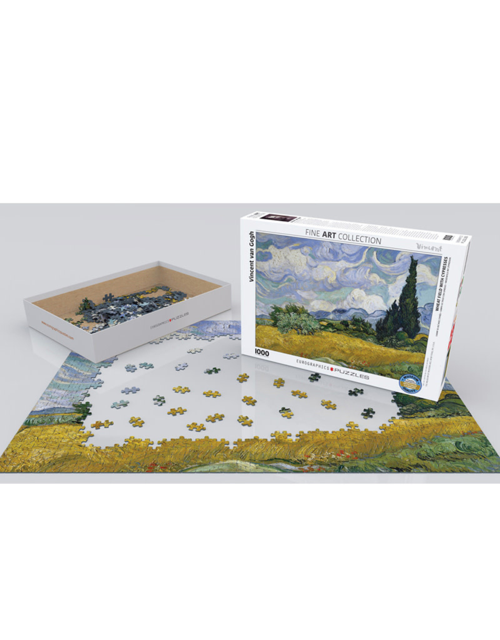 Eurographics Wheat Field with Cypresses Puzzle 1000 PCS