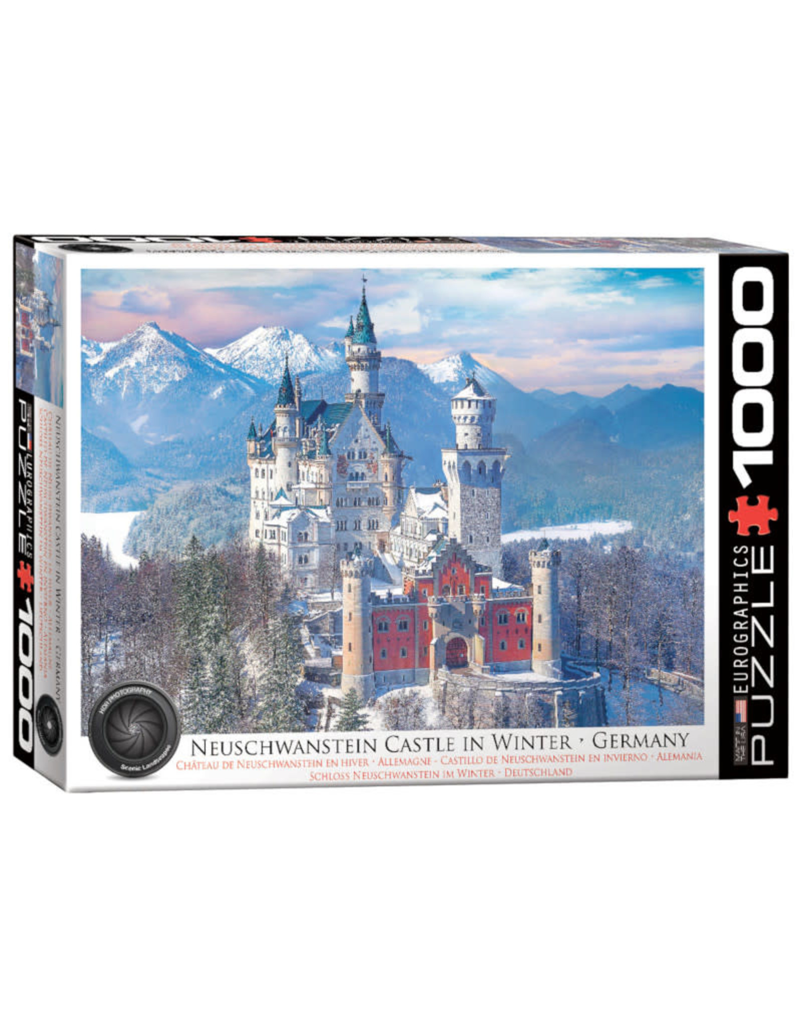 Eurographics Neuschwanstein Castle in Winter 1000 PCS