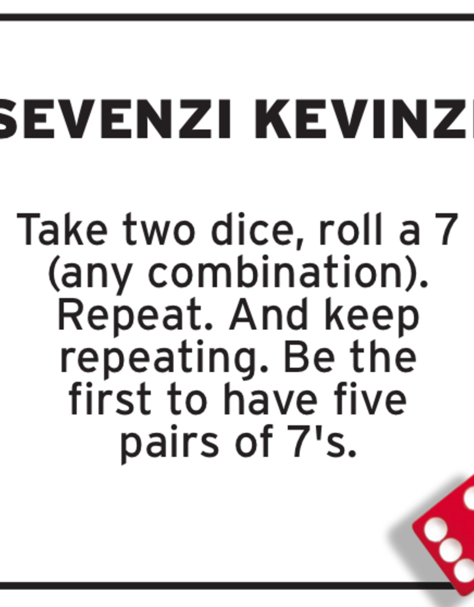 Tenzi Tenzi 77 Ways to Play