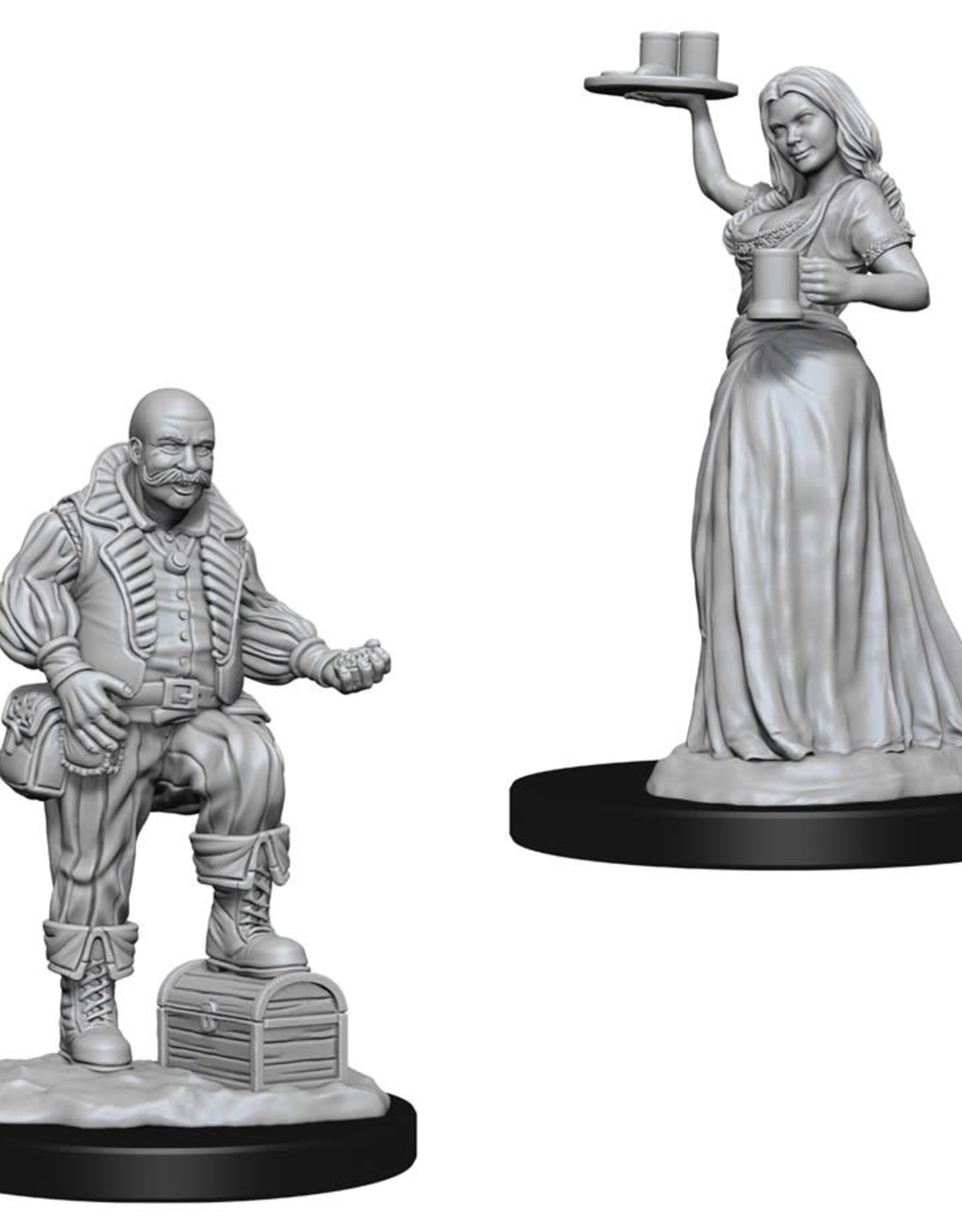 Wizkids Deep Cuts Unpainted Minis: Merchants
