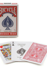 United States Playing Card Co Playing Cards: Bicycle Bridze Size (Red or Blue)