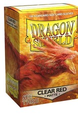 Arcane Tinmen Deck Protectors: Dragon Shield Matte (100) Clear Red