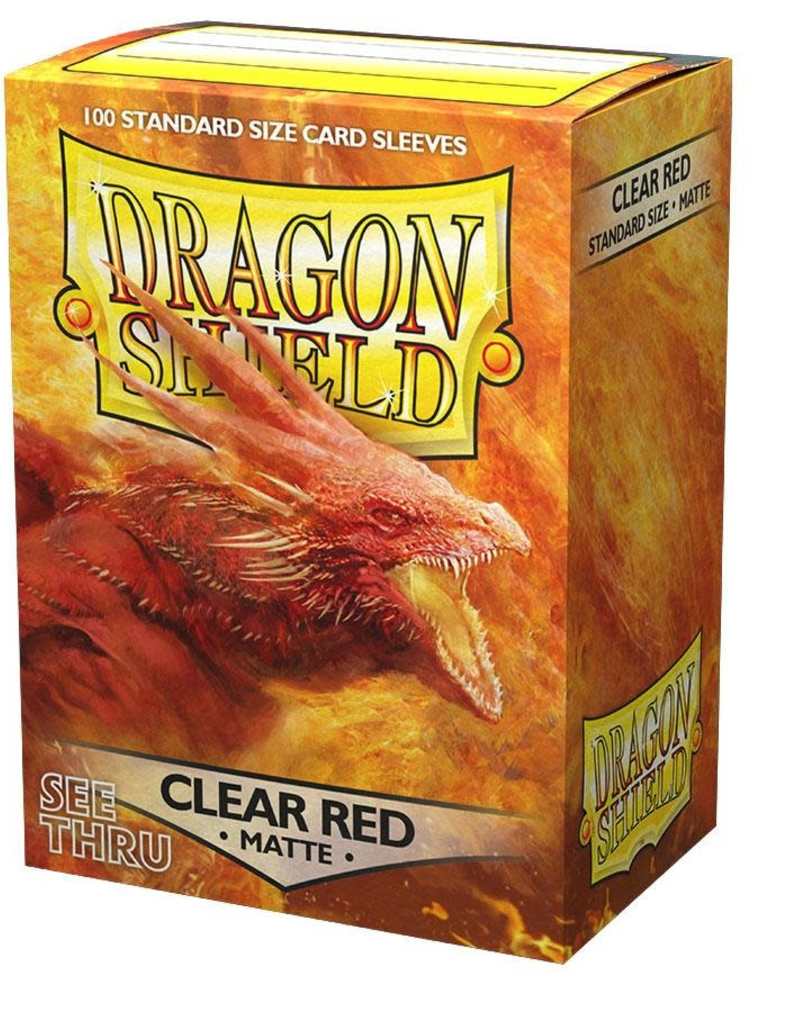 Arcane Tinmen Sleeves: Dragon Shield Matte (100) Clear Red