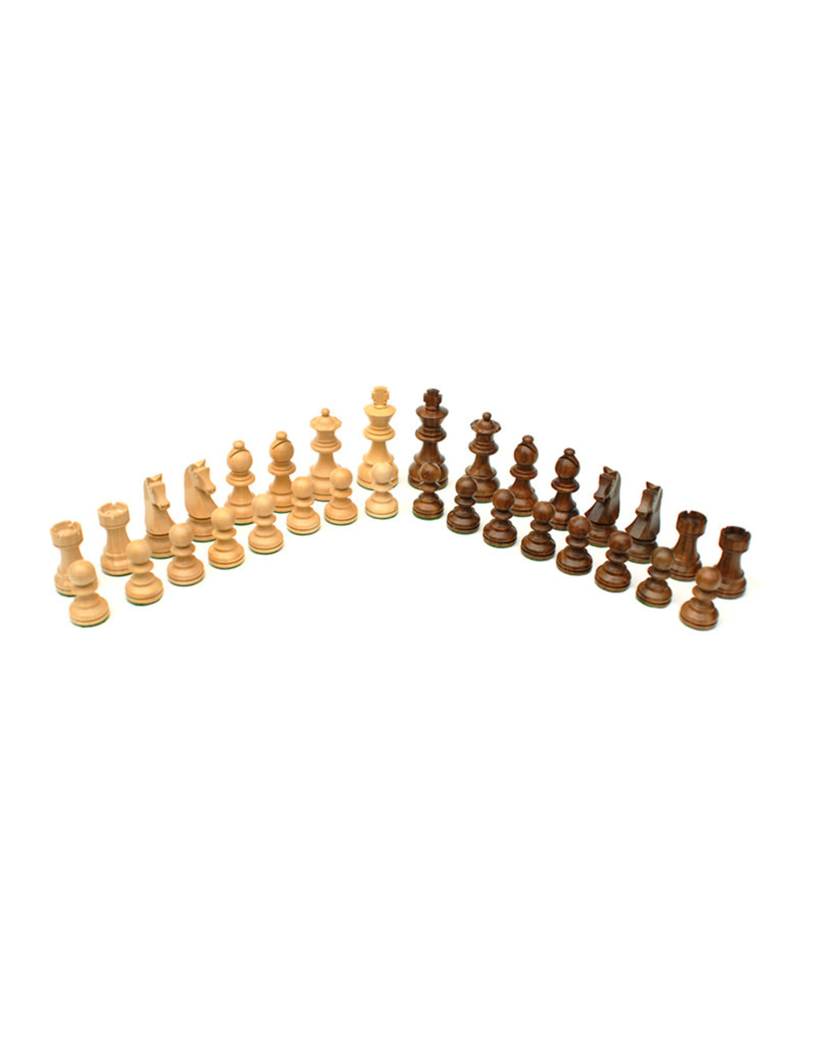 Chess and Checkers Set: French Staunton 15 Inch Wooden Board with Drawers