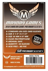 Mayday Games Sleeves: Premium USA Chimera Sleeves (50) (Dark Orange)