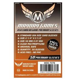 Mayday Games Sleeves: Premium USA Chimera Sleeves (50) (Dark Orange)