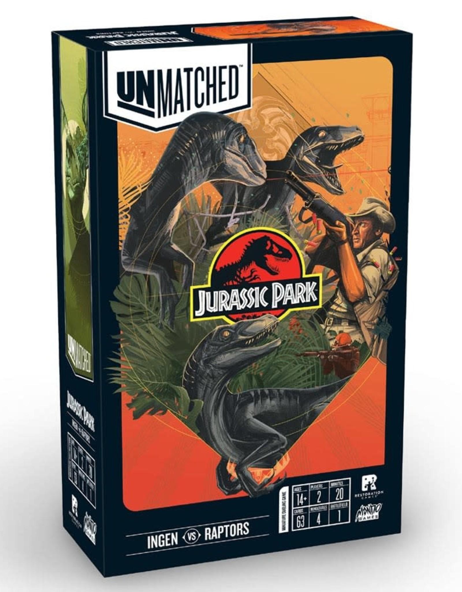 Restoration Games Unmatched: Jurassic Park Ingen vs. Raptors