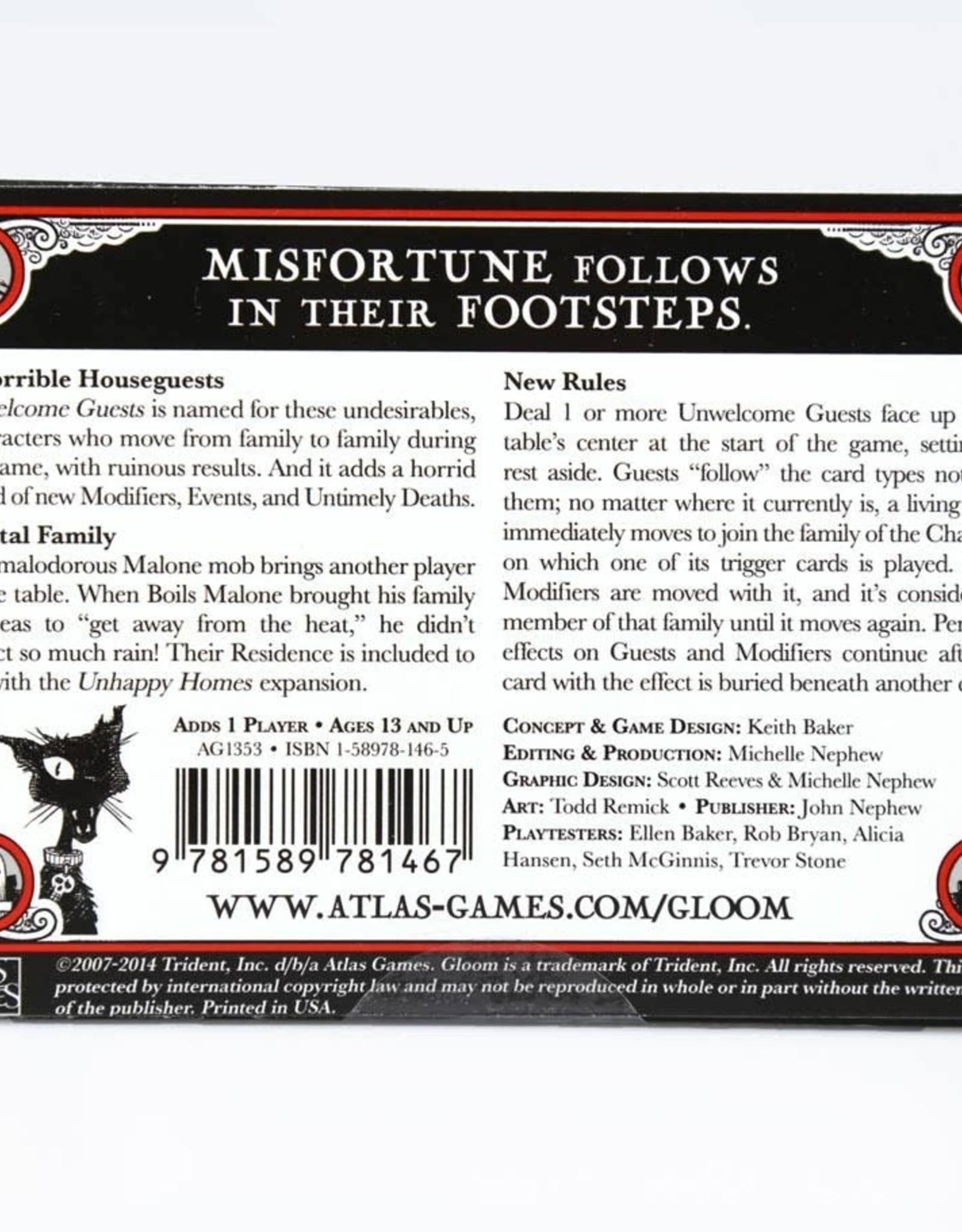 Atlas Games Gloom Unwelcome Guests Expansion