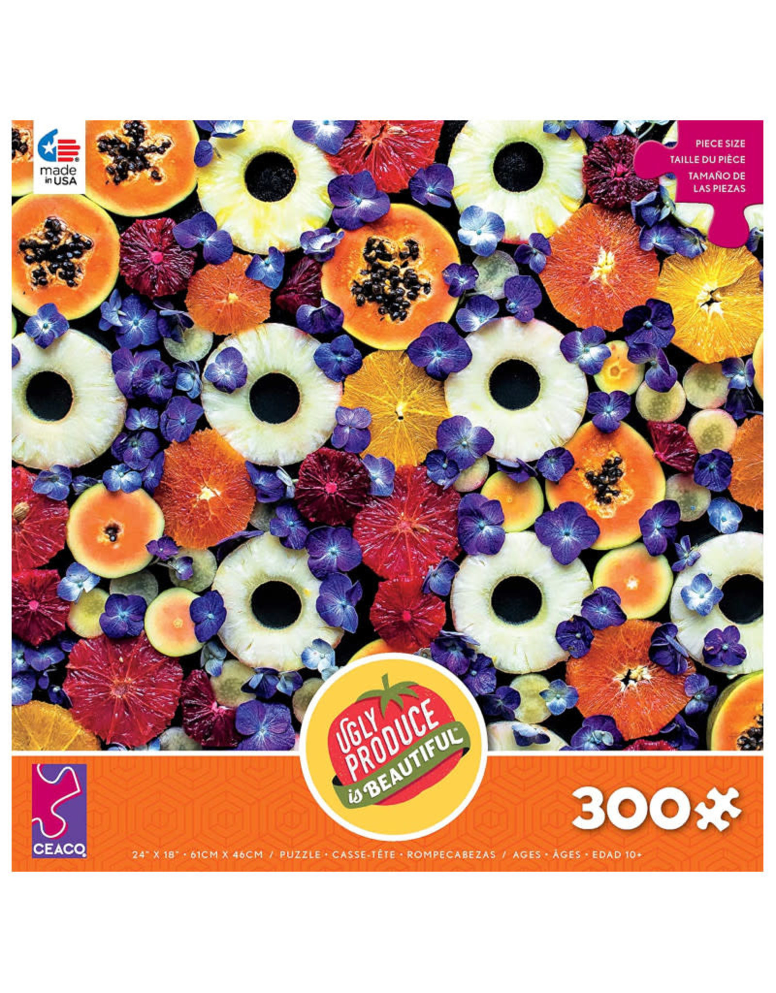 Ceaco Ugly Produce is Beautiful Almost Spring Color Mix  Puzzle 300 PCS
