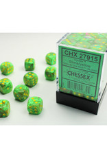 Chessex D6 Dice: 12mm Vortex Slime Yellow (36)