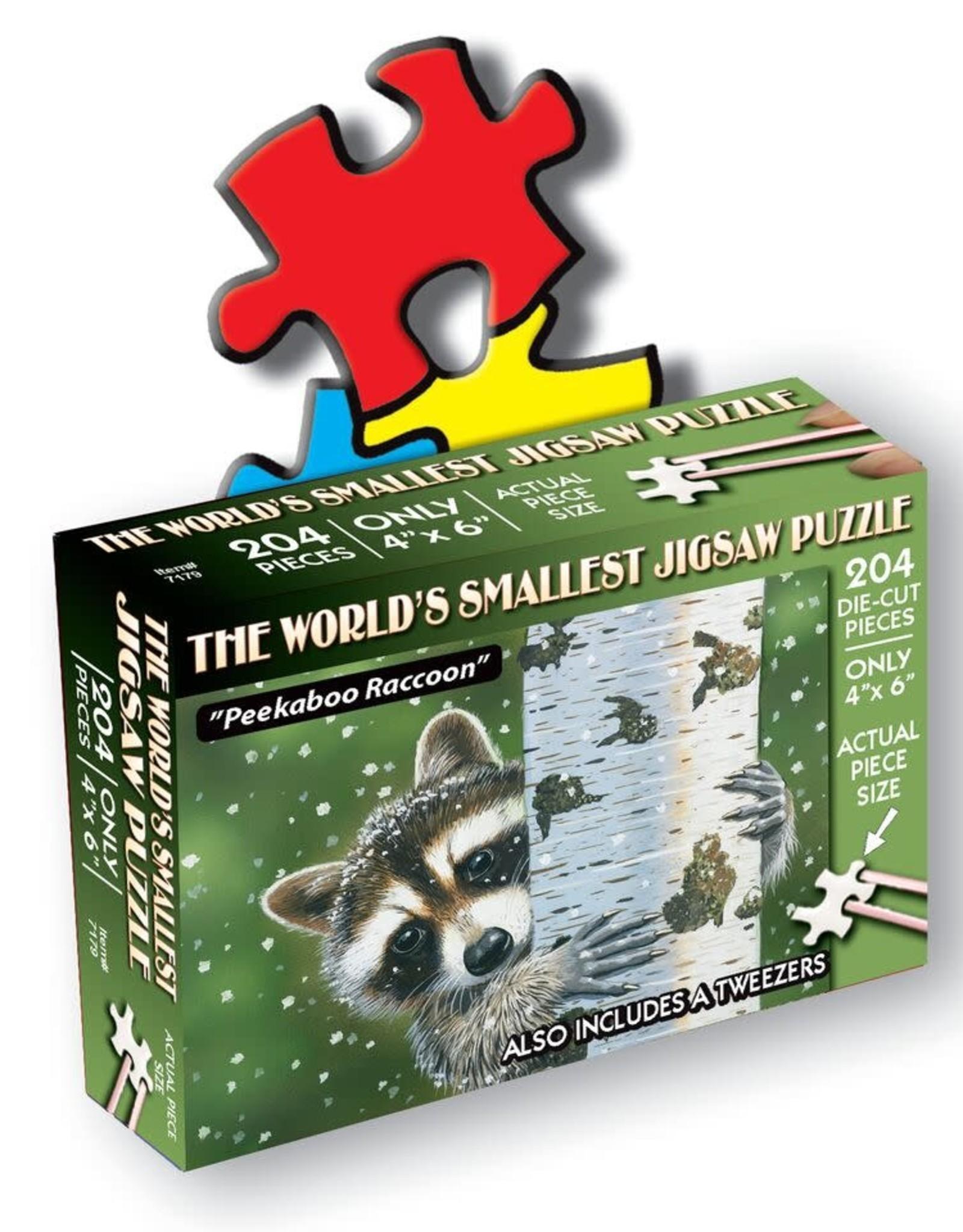 World's Smallest Jigsaw Puzzle: Peekaboo Raccoon 234 PCS