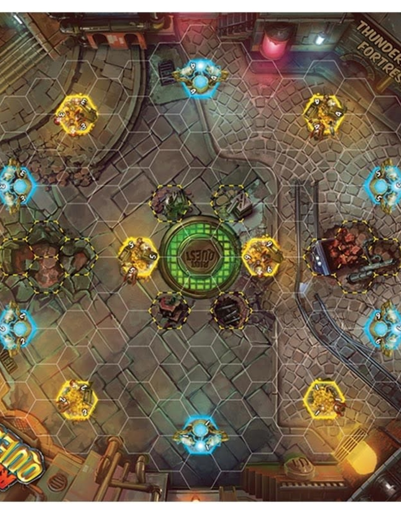 Privateer Press Riot Quest Play Mat Thunderhead Fortress