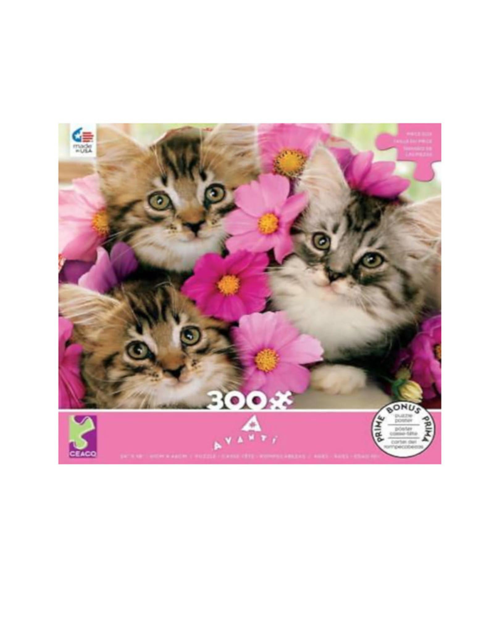 Ceaco Avanti Kitten Boquet Puzzle 300 PCS