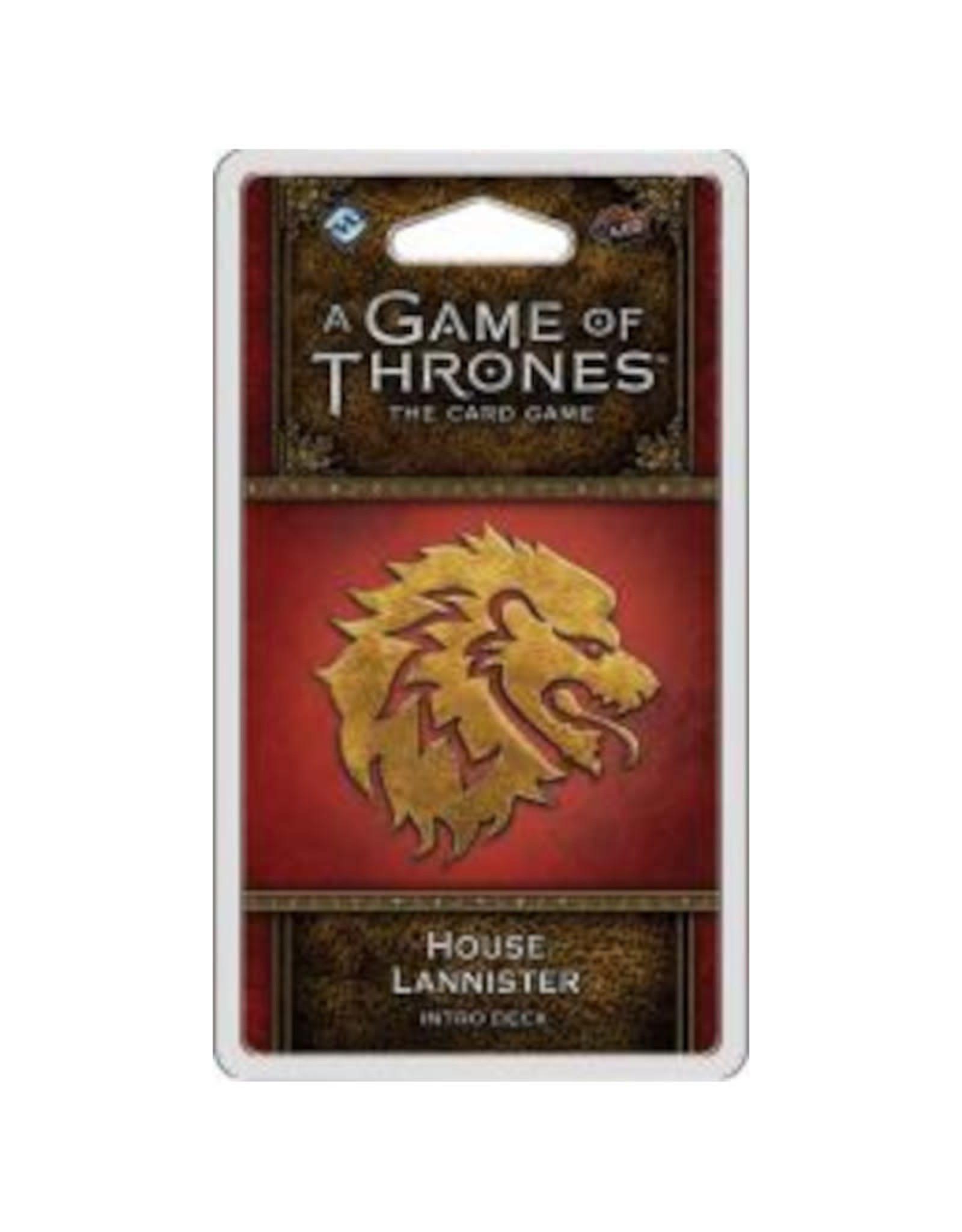 Fantasy Flight Games Game of Thrones LCG Intro Deck Lannister