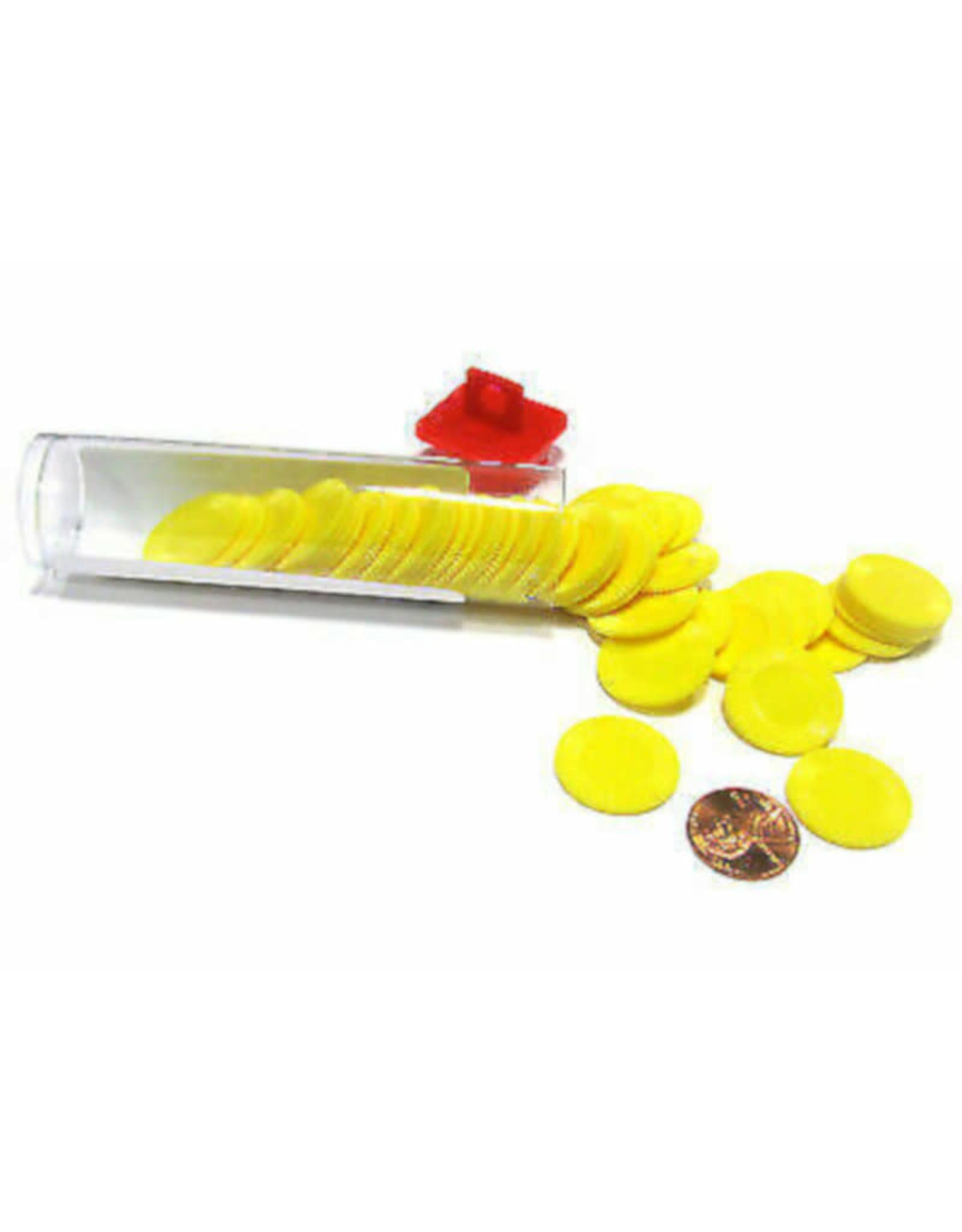 Koplow Mini Poker Chip Tube (50) Yellow