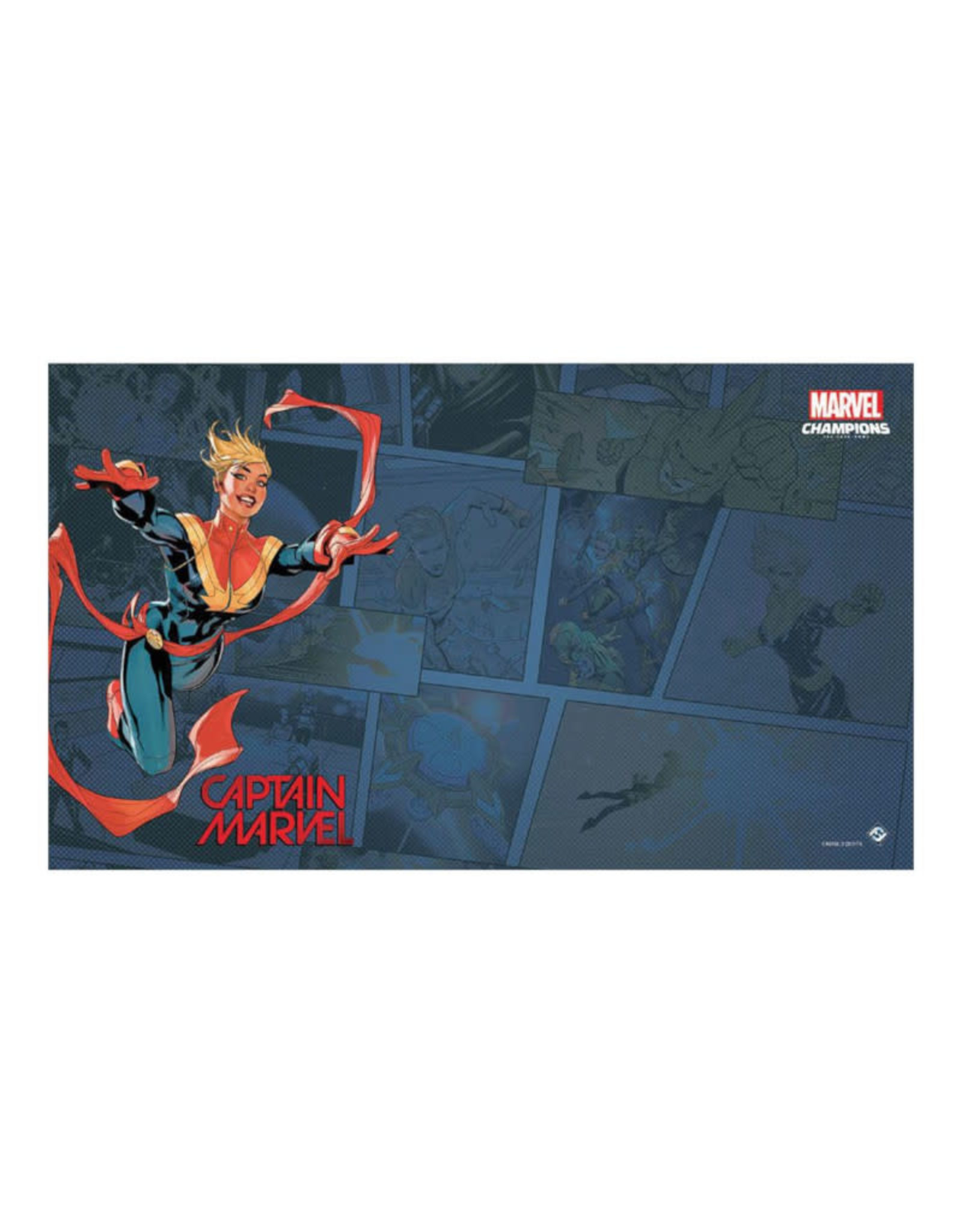 Fantasy Flight Games Marvel Champions LCG Game Mat: Captain Marvel