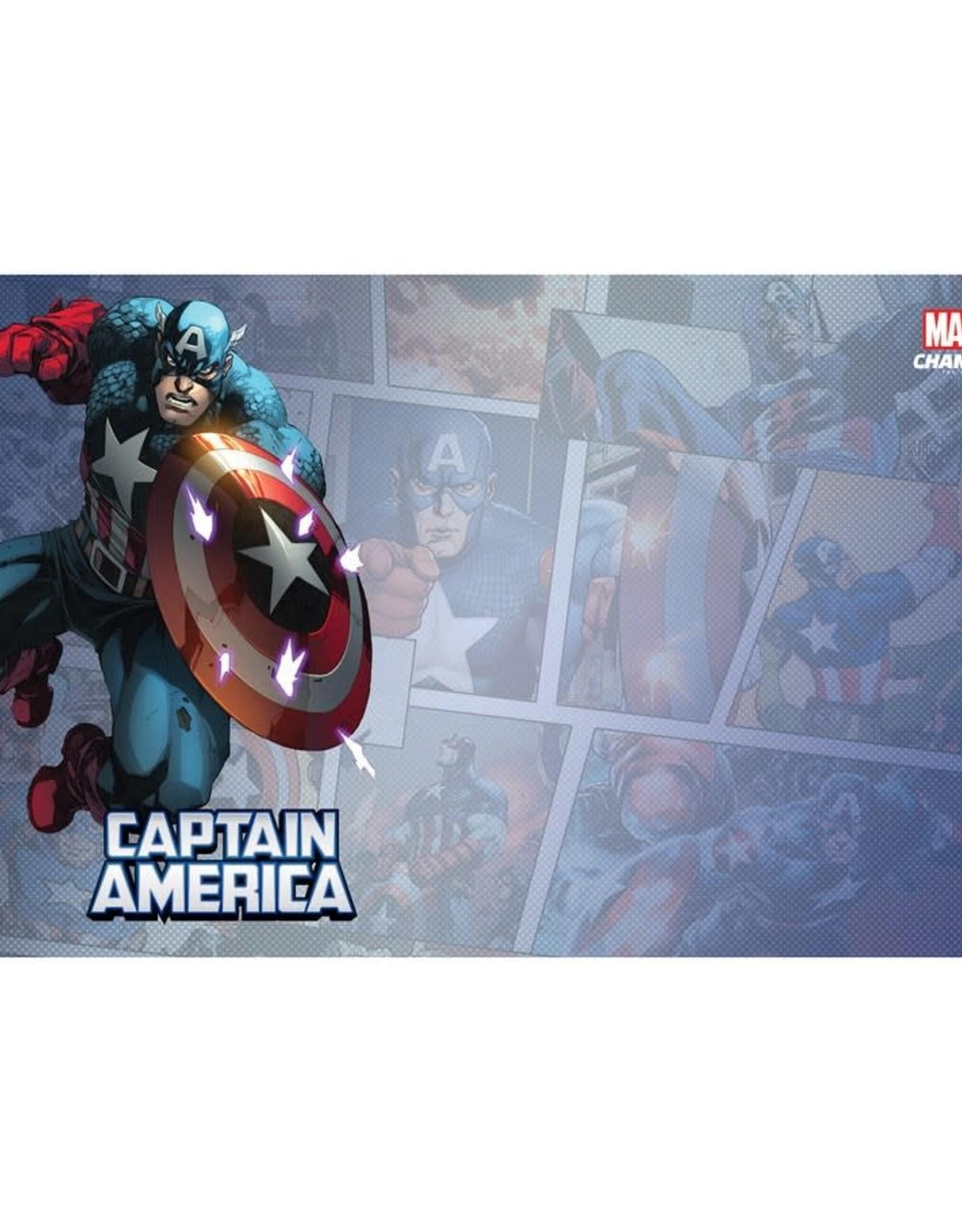 Fantasy Flight Games Marvel Champions LCG Game Mat: Captain America