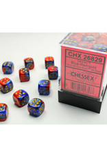 Chessex D6 Dice: 12mm Gemini Blue/Red (36)