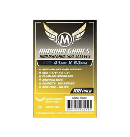 Mayday Games Sleeves: Mini American Sleeves (100) (Yellow)