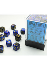 Chessex D6 Dice: 12mm Gemini Black/Blue (36)