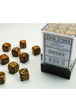 Chessex D6 Dice: 12mm Glitter Gold (36)