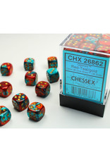 Chessex D6 Dice: 12mm Gemini Red/Teal (36)