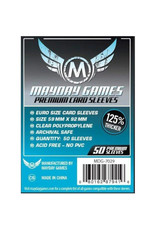 Mayday Games Sleeves: Premium Standard European (50)(Blue)