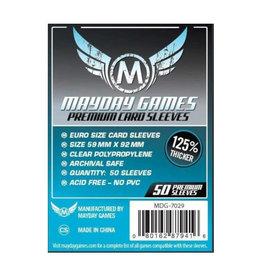 Mayday Games Sleeves: Premium Standard European (50)(Blue)