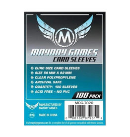 Mayday Games Sleeves: Standard European (100)(Blue)