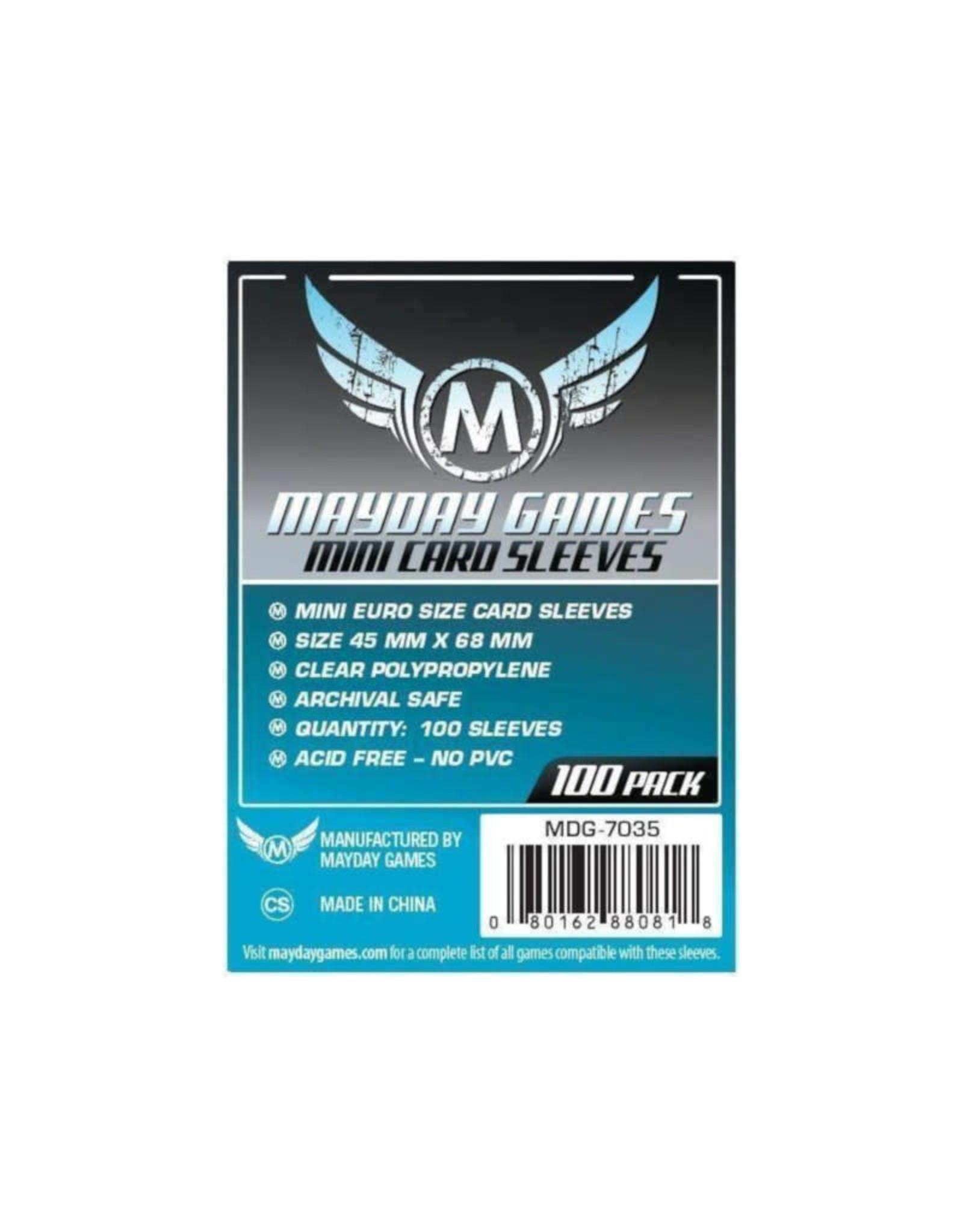 Mayday Games Sleeves: Mini Euro Card (100) (Dark Blue)