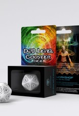 Q Workshop D20 Level Counter White