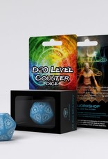 Q Workshop D20 Level Counter Blue