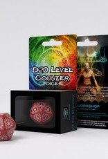 Q Workshop D20 Level Counter Red