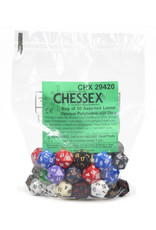 Chessex Assorted D20 Dice: Opaque Assorted Bag of Dice (50)