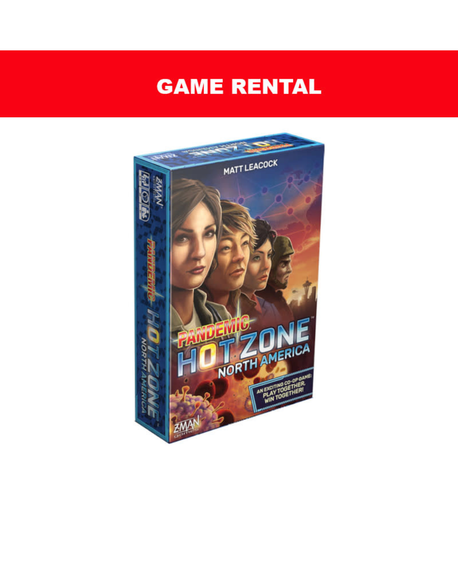 Zman Games (RENT) Pandemic Hot Zone North America for a Day. Love It! Buy It!