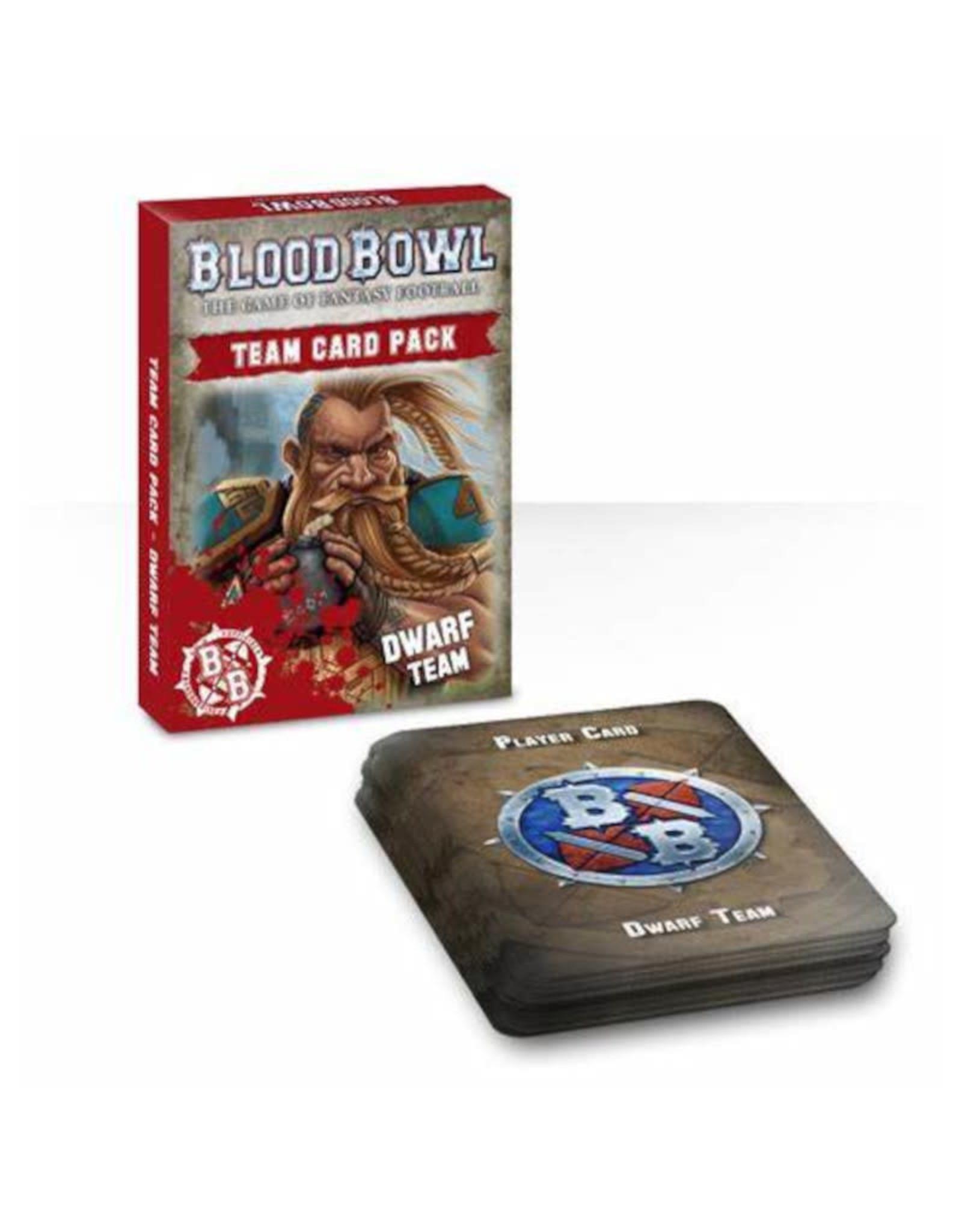 Games Workshop Blood Bowl Dwarf Team Cards