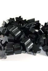 Apostrophe Games Wooden Meeples (50) Black
