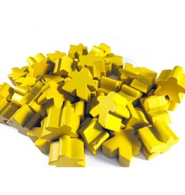Apostrophe Games Wooden Meeples (50) Yellow