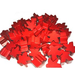 Apostrophe Games Wooden Meeples (50) Red