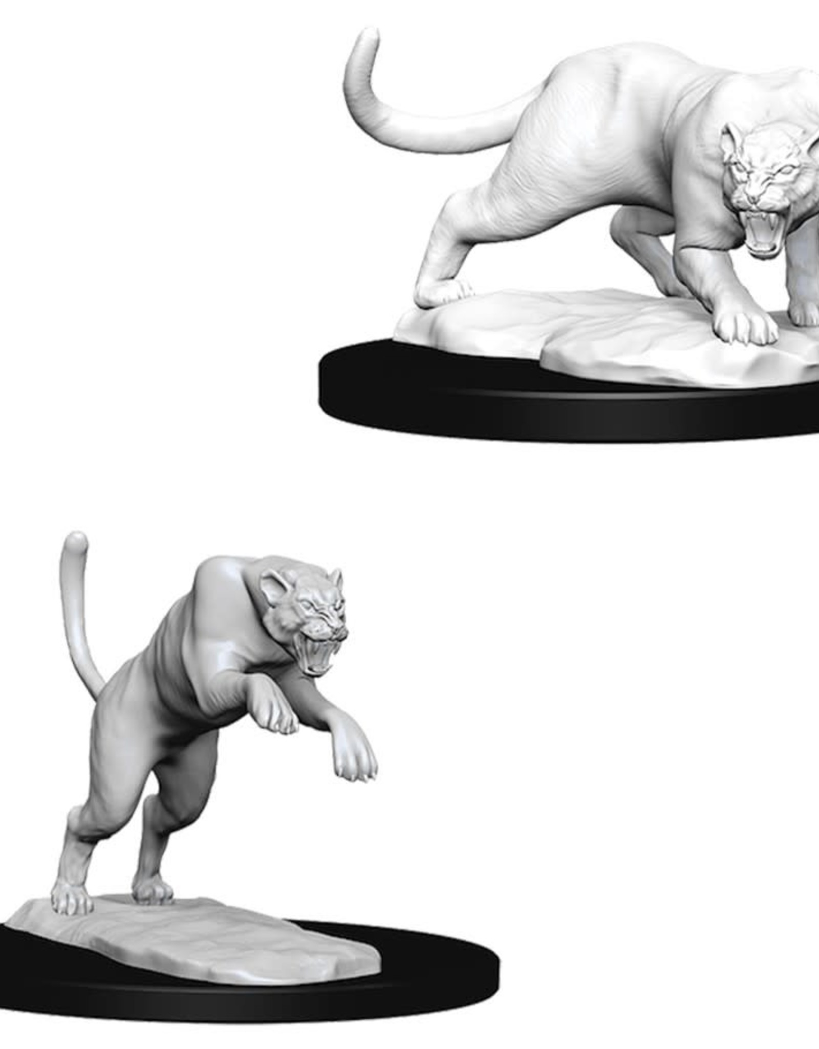 Wizkids D&D Unpainted Minis: Panther and Leopard