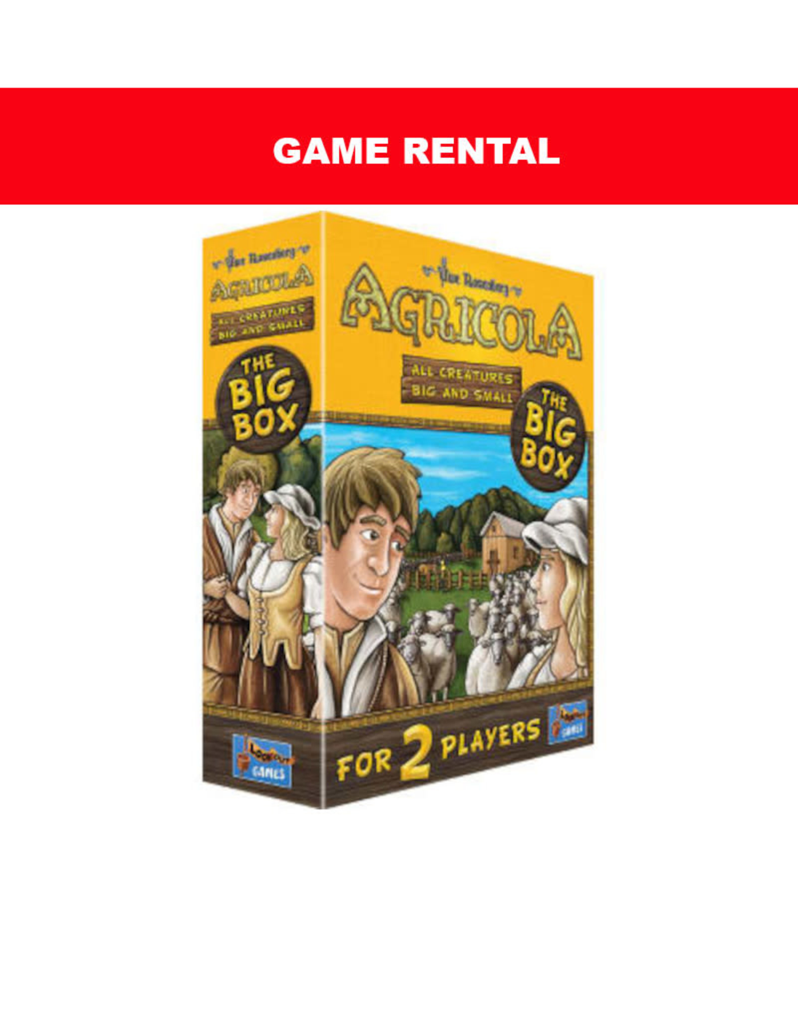 (RENT) Agricola All Creatures Big and Small Per Day. Love It! Buy It!