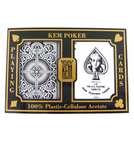 United States Playing Card Co Kem Cards: Black Gold Standard (Poker) Size