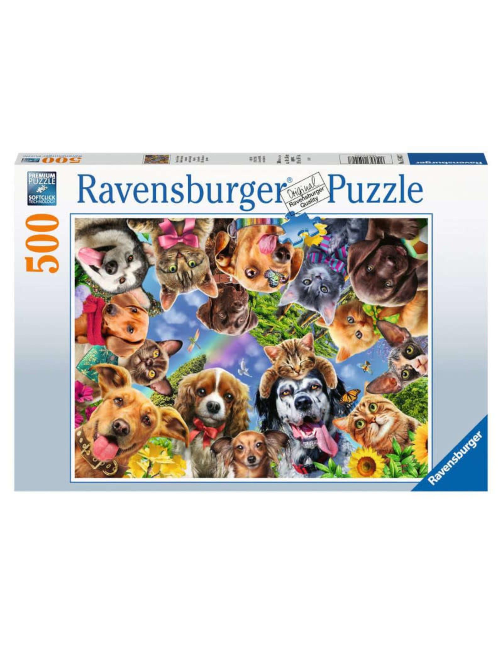 Ravensburger Funny Animal Selfie Puzzle 500 PCS