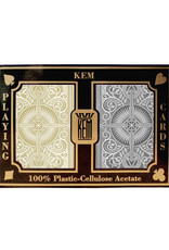 United States Playing Card Co Kem Cards Black Gold Narrow Size