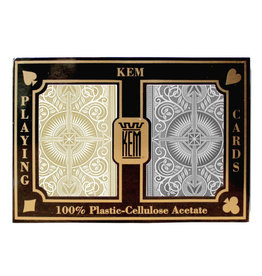 United States Playing Card Co Playing Cards: Kem Black Gold Narrow Size