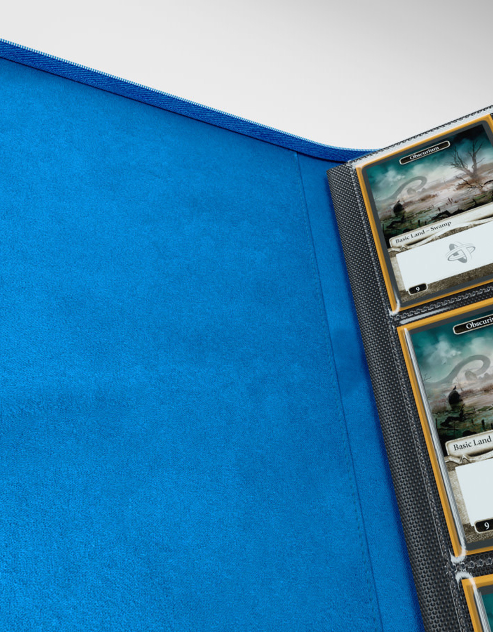 Binder: 8-Pocket Zip-Up Album Blue
