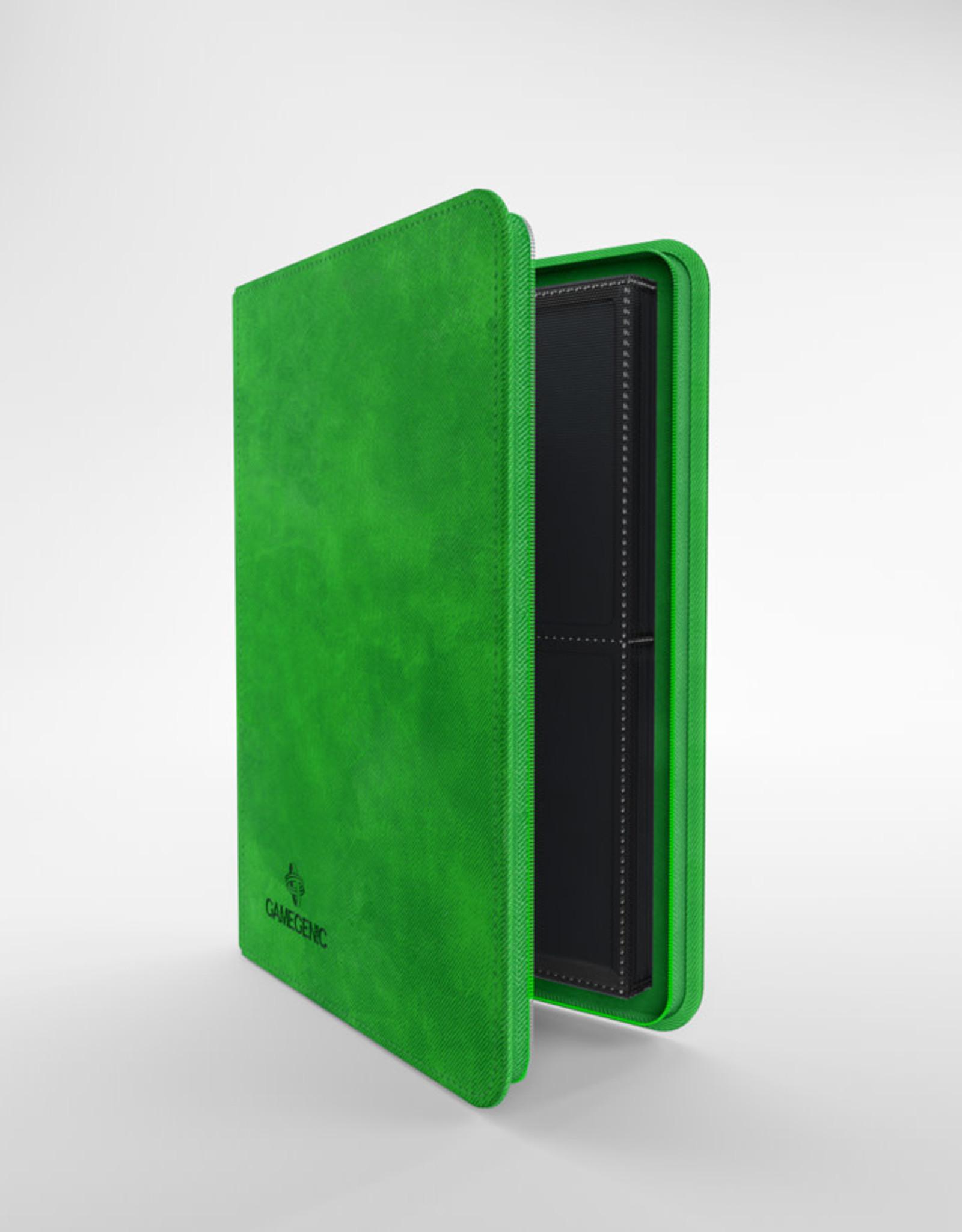 Binder: 8-Pocket Zip-Up Album Green