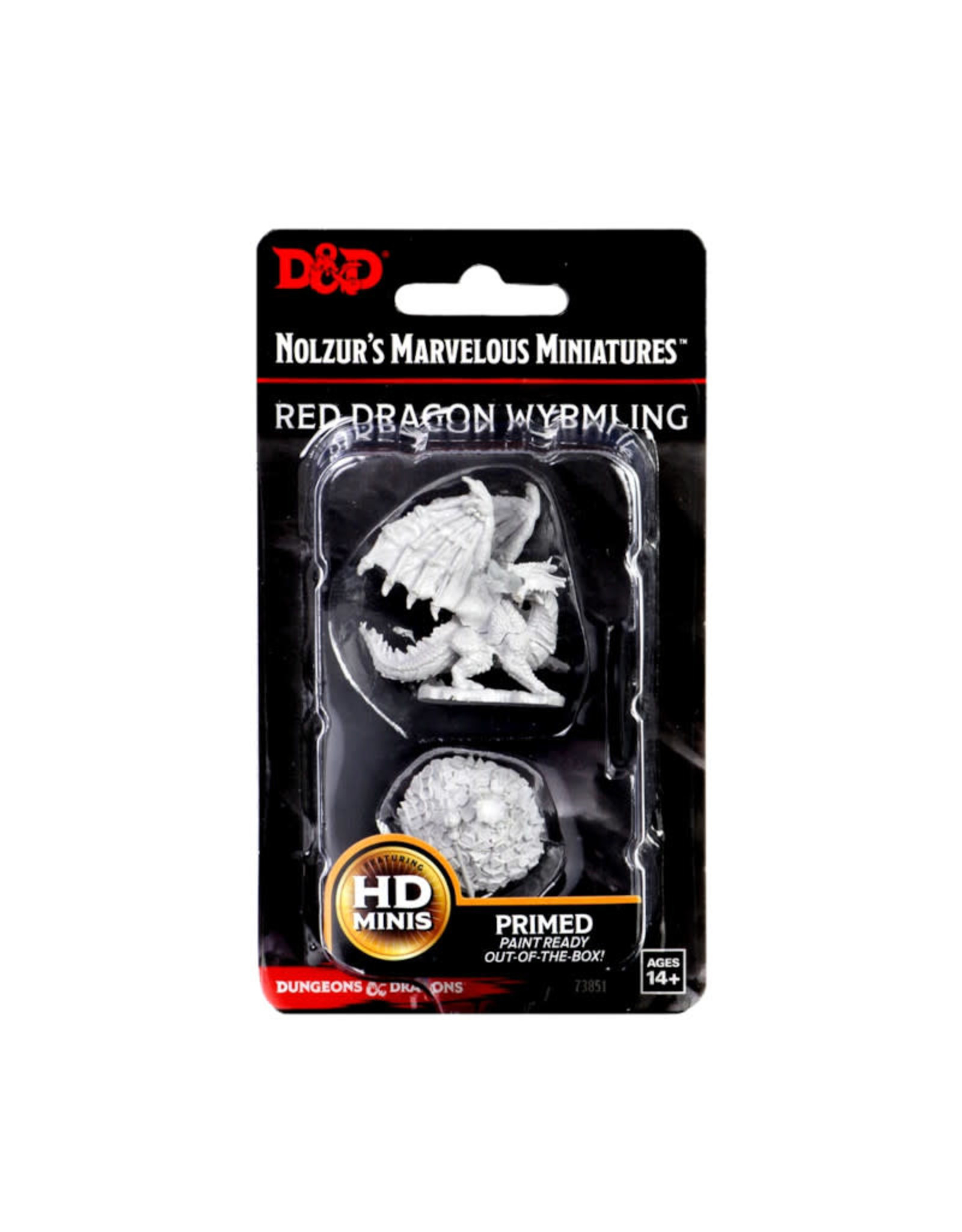 Wizkids D&D Unpainted Minis: Red Dragon Wyrmling